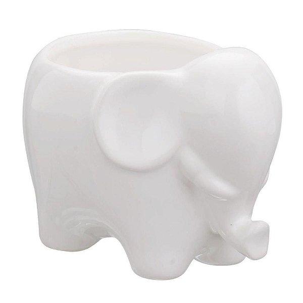 Mini Cachepot elefante em ceramica