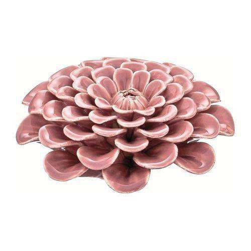 Flor decorativa de cerâmica rosa - 7640