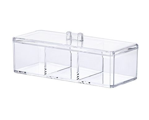 1198 - Organizador Cosméticos com Divisória 23 x 9 x 8,5 cm