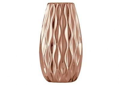 Vaso em cerâmica cobre