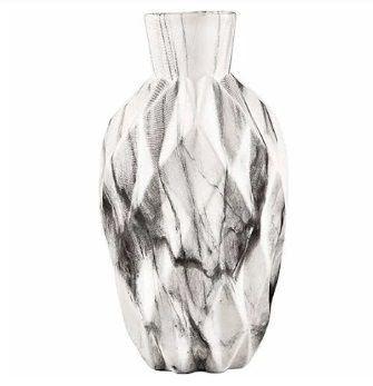 Vaso marmorizado em cerâmica