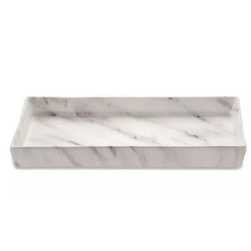 Bandeja retangular mármore em cerâmica 21X3X11CM