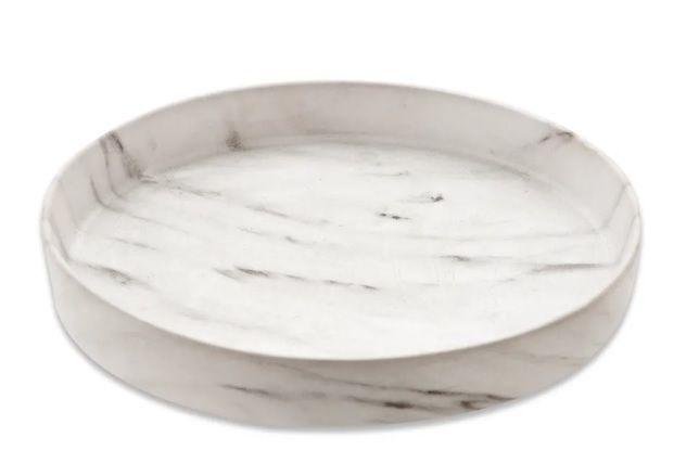 Bandeja redonda mármore em cerâmica 17x3CM