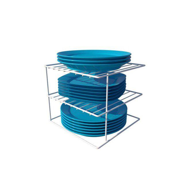 Organizador de pratos quadrado essence