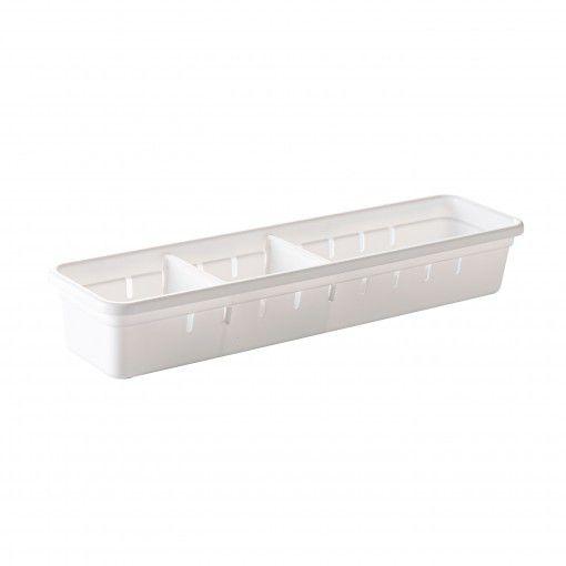 Organizador de Gaveta de Plástico com 2 Divisórias Móveis L1 (30,0x7,9x5,0 cm)