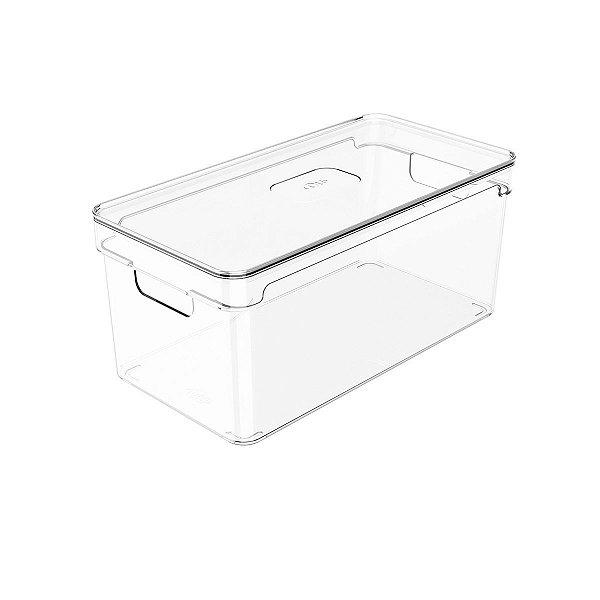 Organizador c/tampa clear 30x15x13 - OU