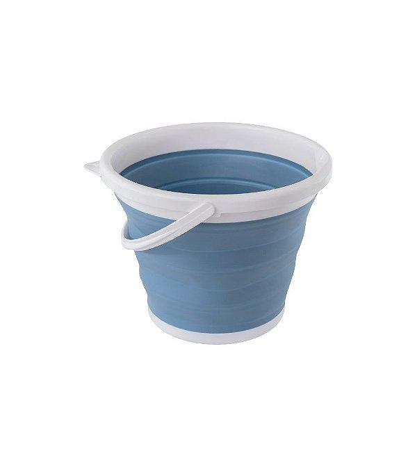 Balde Retrátil Azul de 10L