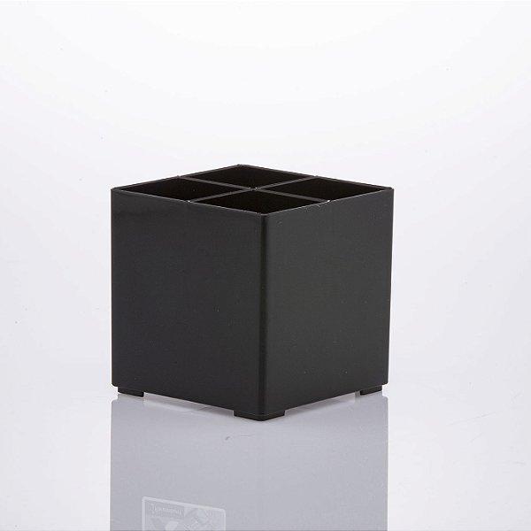 Organizador de acessórios preto c/div. 10x10x10