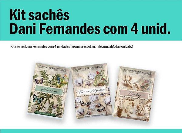 Kit sachês Dani Fernandes 10g c/4 unid.