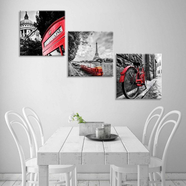 6c02cf1bd Conjunto de Quadros Decorativos Canvas - Love Decor - Uma Empresa do ...