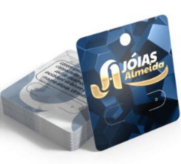 Cartelas para Bijuterias com Hot Stamping 4x5cm 1000 unidades