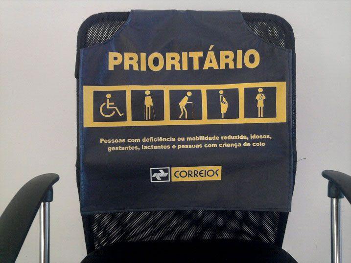 Capa de assento prioritário