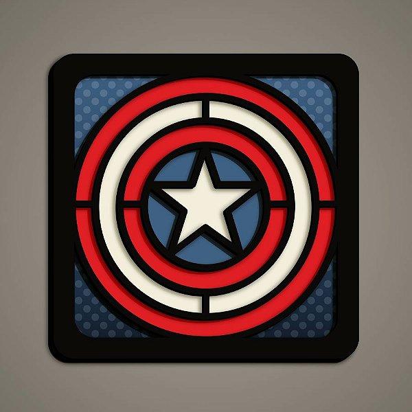 Quadro Herói 3D - Capitão América