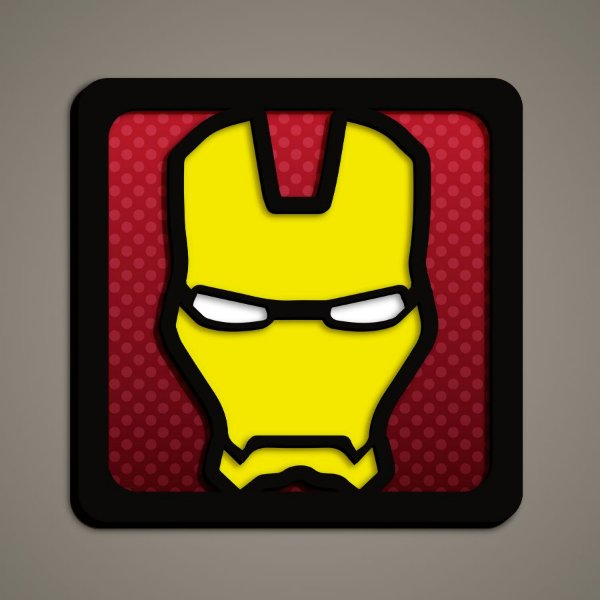 Quadro Herói 3D - Homem de Ferro