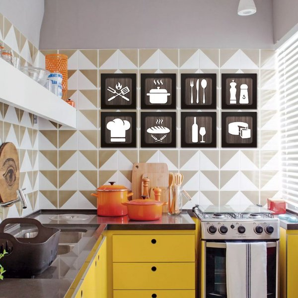 Quadros Decorativos para Cozinha - Café - Churrasco - Área Gourmet
