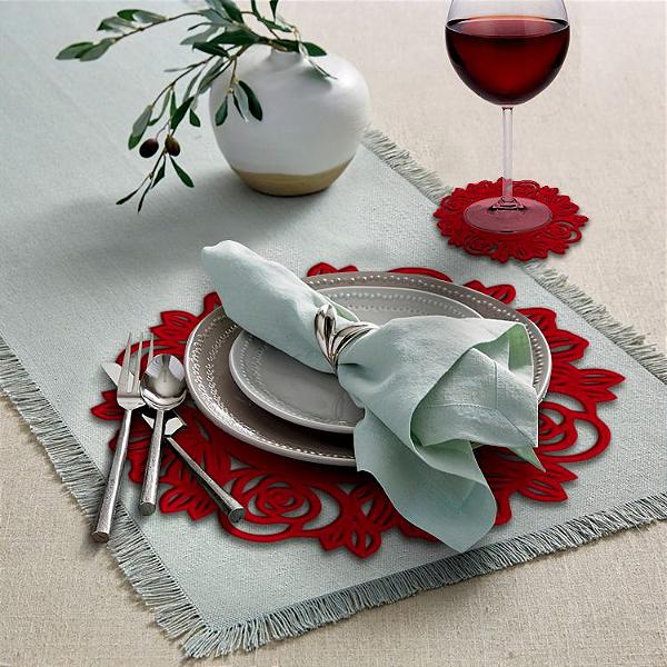 Kit - Sousplat – Rosas