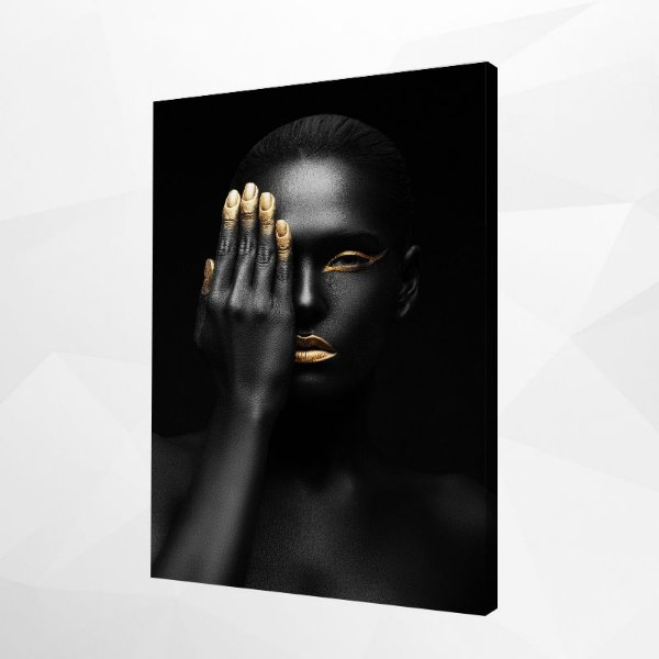 Quadro – Black & Gold Woman – 3