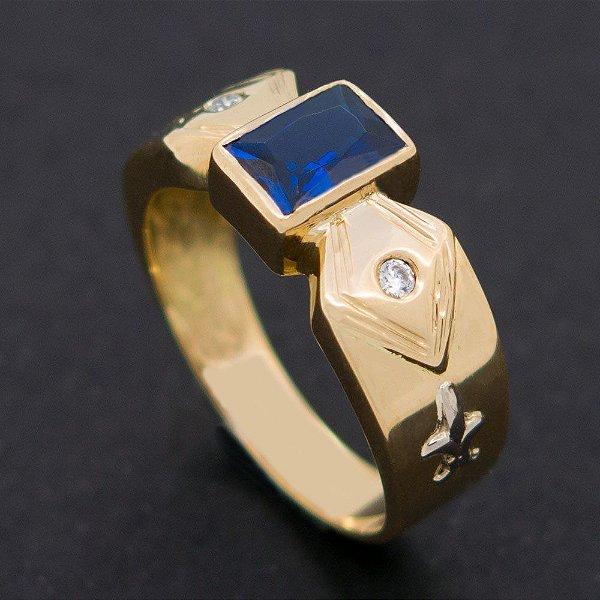 Anel de Administração Luxo Ouro 18k