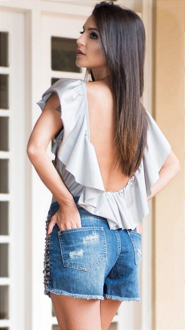 Body Feminino Fashion Babado