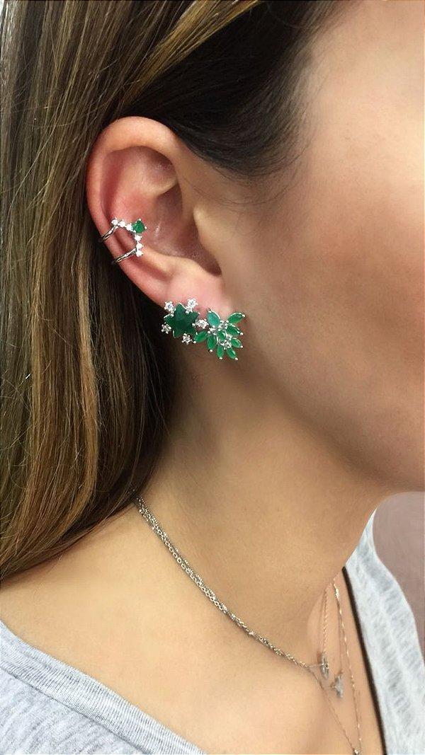 Kit Ear Cuff / Brinco Flor