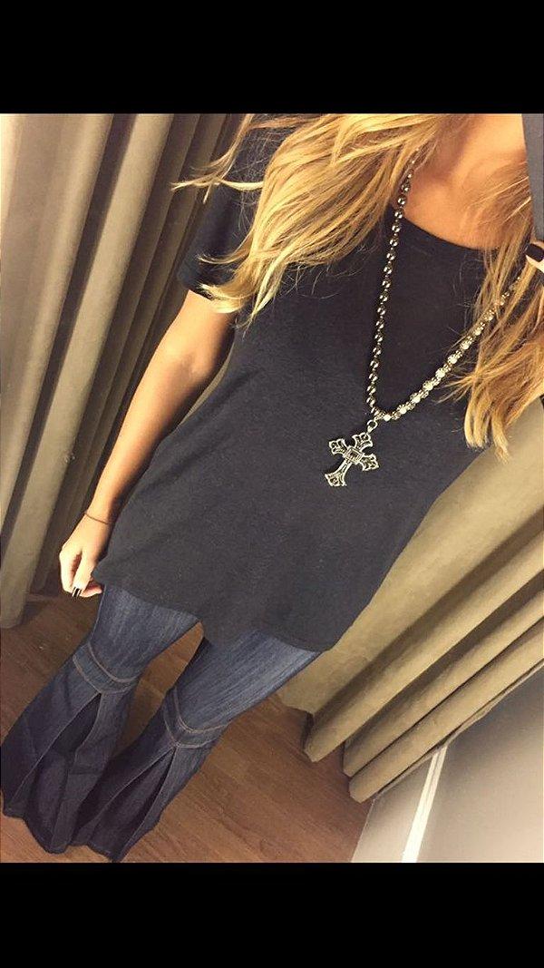 T-Shirt Podrinha Mullet Preta