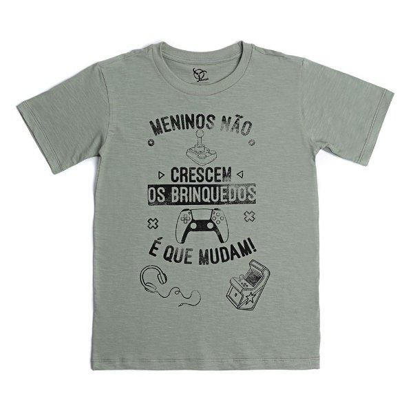 Camiseta Infantil Meninos Jokenpô Militar