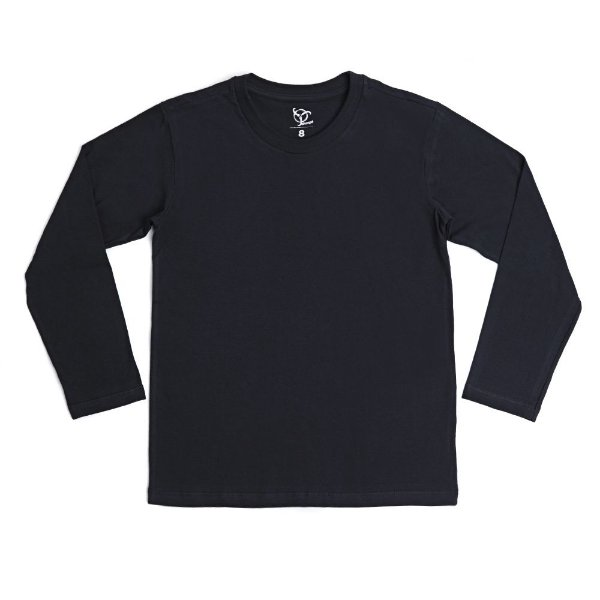 Camiseta Infantil Menino Jokenpô Básica M/L Preta