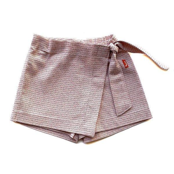 Shorts Saia Infantil Menina Jokenpô Rosa/Dourado