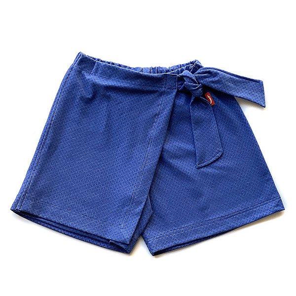 Shorts Saia Infantil Menina Jokenpô Denim
