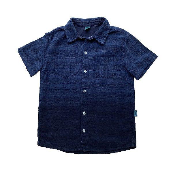 Camisa Infantil Jokenpô Algodão Degradê Azul