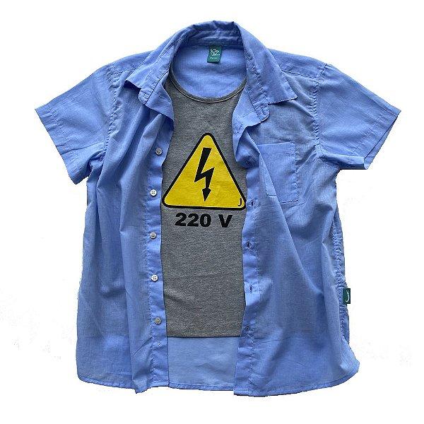 Camisa Infantil Menino Jokenpô Cambraia 220v