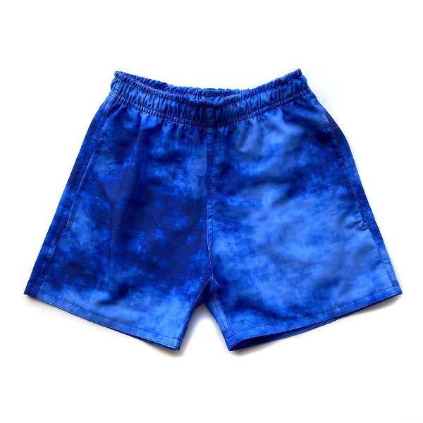 Shorts D'Água Infantil Menino Jokenpô Pixel Azul