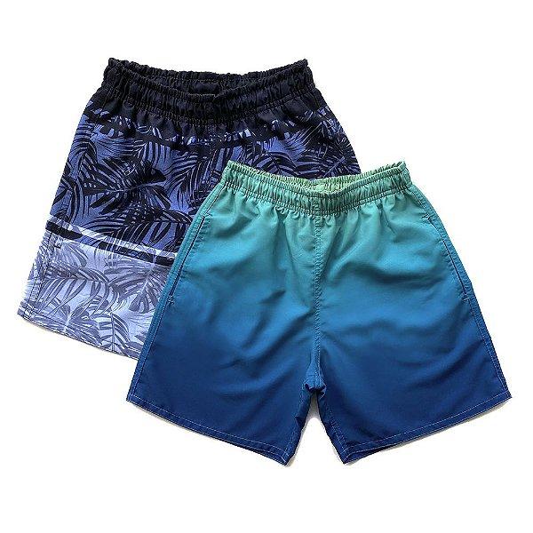 Kit 2 Shorts D'Água Infantil Menino Jokenpô - Degradê+Preto