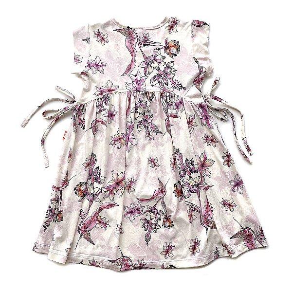 Vestido Infantil Menina Jokenpô Floral Rosa Claro