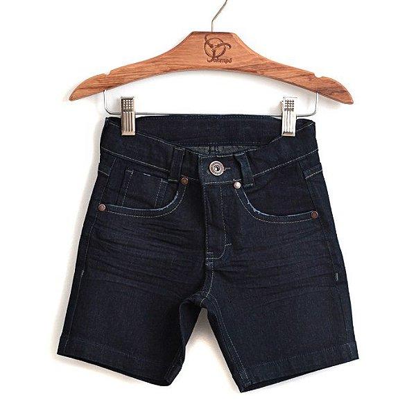 Bermuda Jokenpô Infantil Jeans Dark