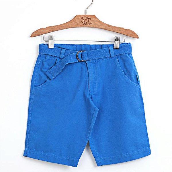 Bermuda Jokenpô Infantil Sarja Azul