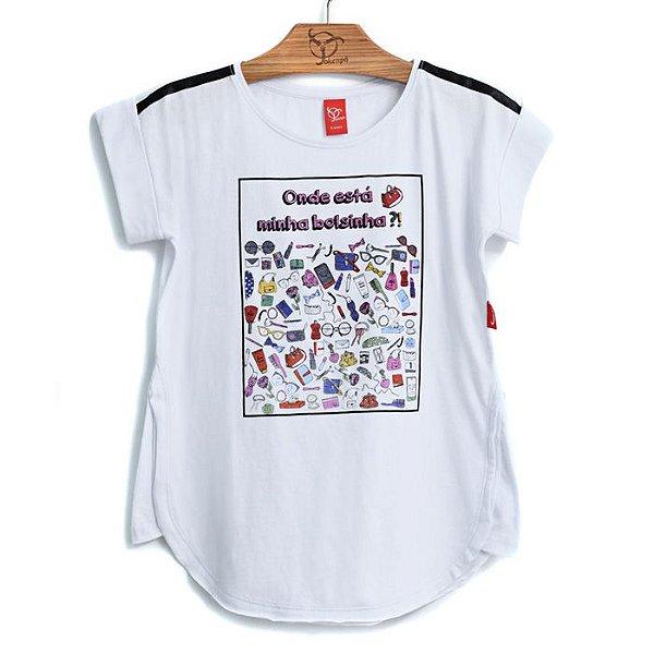 Blusa Jokenpô Infantil Bolsinhas Branca
