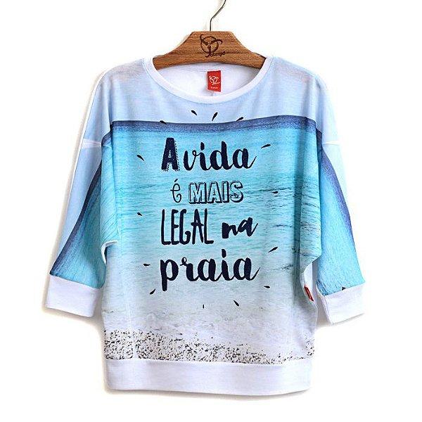 Blusa Infantil Praia
