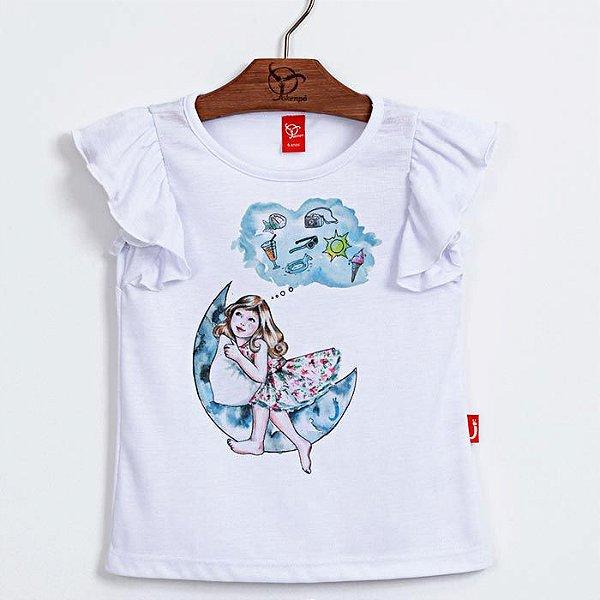 Blusa Infantil Sonhos Branca