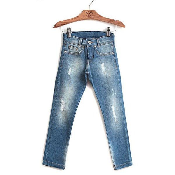 Calça Jokenpô Infantil Jeans Skinny Blue