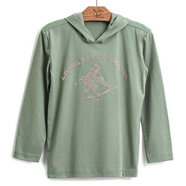 Camiseta Jokenpô Infantil Capuz Livre, Leve e Solto