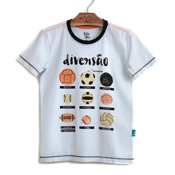 Camiseta Jokenpô Infantil Diversão