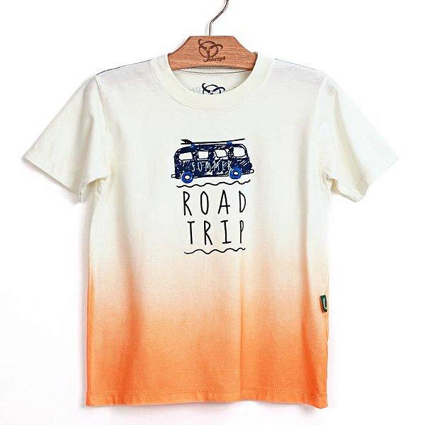 Camiseta Jokenpô Infantil Filho Trip Laranja