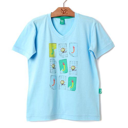 Camiseta Jokenpô Infantil Memória Azul