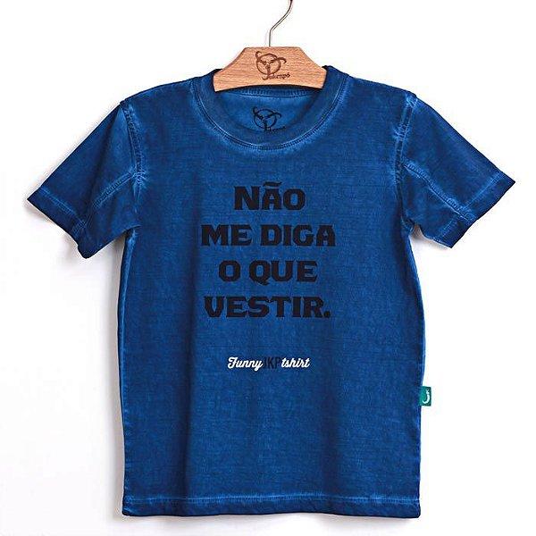 Camiseta Jokenpô Infantil Não Marinho