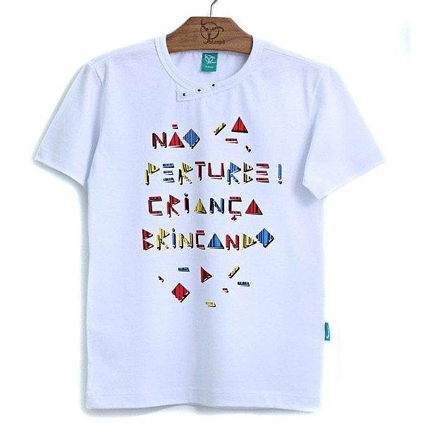 Camiseta Jokenpô Infantil Não Perturbe