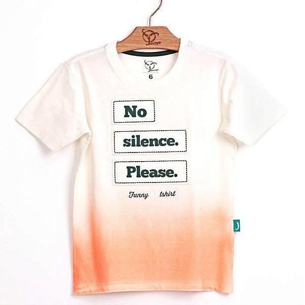 Camiseta Jokenpô Infantil Silence Laranja