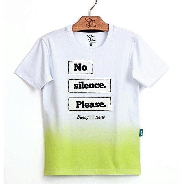 Camiseta Infantil Silence Verde