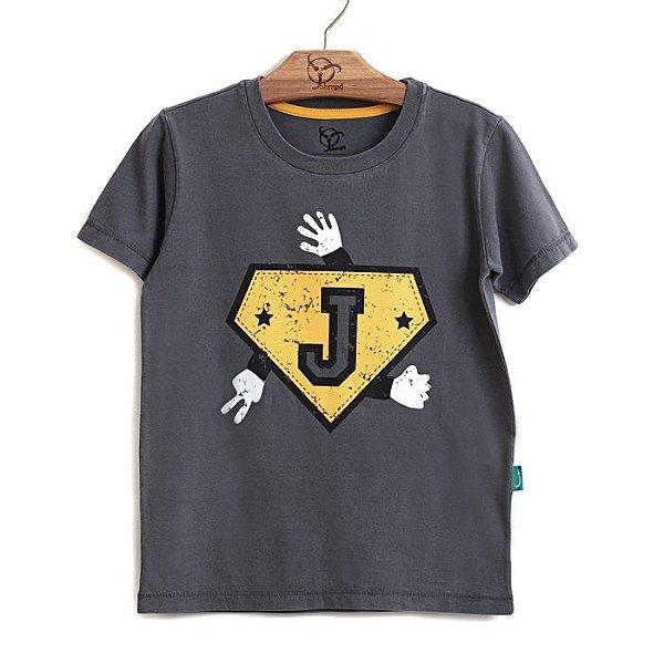Camiseta Infantil Super Jok Grafite