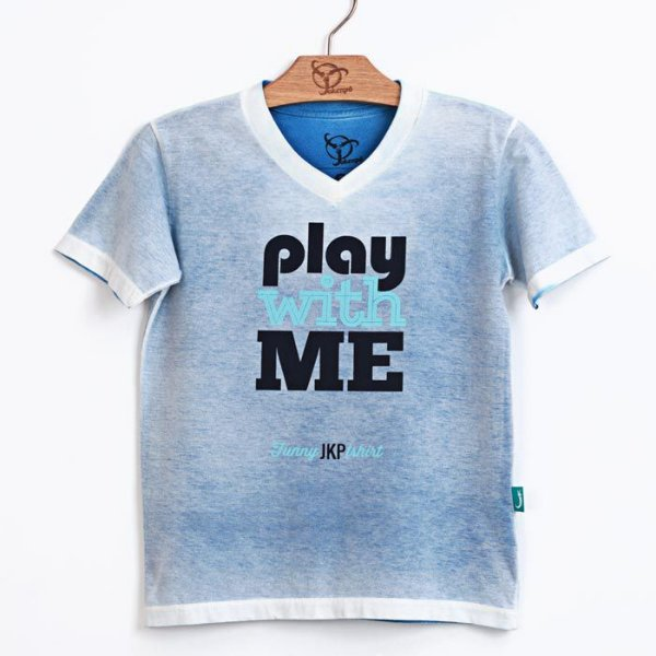 Camiseta Jokenpô Pai Play Azul